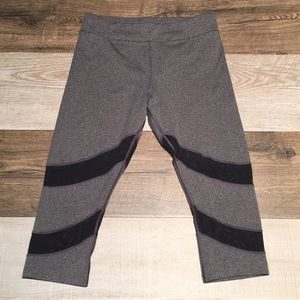 Women's BCG Leggings Yoga Pants Gray Black Size M